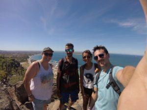 hiking up La Calavera